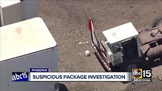 Top stories: Suspicious package investigation in Phoenix; Fire destroys mobile home in Glendale; Gov. Ducey launches re-election campaign - Video