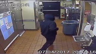 Masked man with shotgun robs Phoenix Jack in the Box - Video