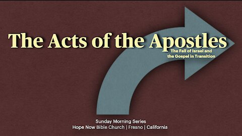 Acts 1:15-26 | Session 5 | The Apostles Replace Judas [Audio Issue]