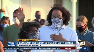 Broadway Heights hosts vigil to fight racial injustice