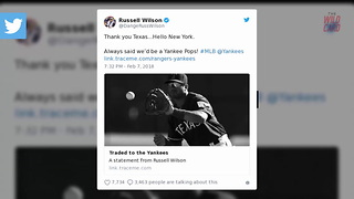 Russell Wilson Traded From Rangers To The Yankees