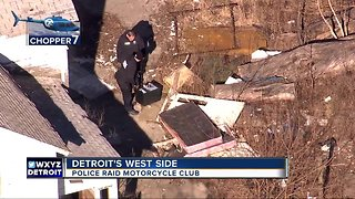 Police raid motorcycle club on Detroit's west side