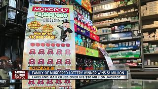 Family of murdered lotto winner wins $1 million
