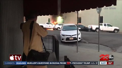 Fire prompts power outages in Downtown Bakersfield