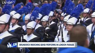 Brunswick High School marching band performs in London's New Year's Day Parade