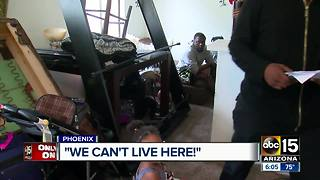 Family says landlord not helping with flooded apartment - Video