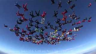 World Record attempt in Skydiving Formation || Viral Video UK - Video
