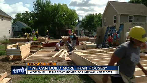 Women build homes, hope for the future in Milwaukee