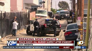 Police shoot, kill murder suspect after standoff