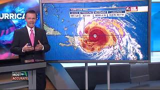 Hurricane Irma taking aim at Florida, possibly Carolinas | Thursday 5AM update with Greg Dee - Video