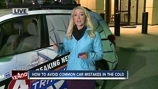 Ways to avoid common car mistakes in the cold