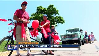Mequon sets world record for shortest 4th of July parade - Video