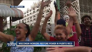 Video captures emotional moment We Energies crews restore power in Puerto Rico - Video