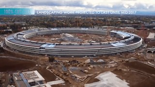Apple 'Spaceship' Campus Nearing Completion in new Drone Video - Video