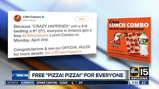 Little Caesars offering free pizza for NCAA upset - Video