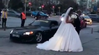 Bride and Groom on Spectacular Wedding - Video