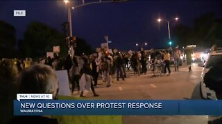 New Questions over protest response
