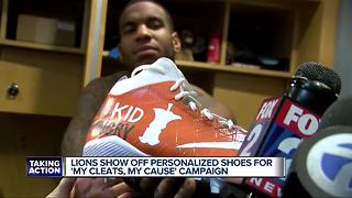 Lions show off custom cleats for