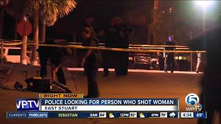 Gunman sought after young woman shot in Stuart