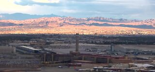 Las Vegas airport traffic down from last year