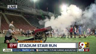 Hundreds sprint up Nippert Stadium stairs to honor 9/11 victims - Video