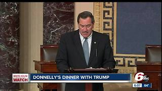 Sen. Joe Donnelly meets with President Trump about tax reform - Video