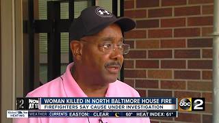69-year-old woman dies in house fire early Sunday - Video