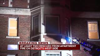 At least two rescued from apartment on Detroit's west side - Video