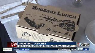 Michigan restaurant serving meals in shoe boxes