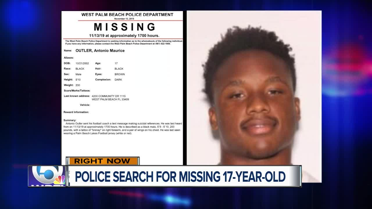 17-year-old Palm Beach Lakes HS football player missing