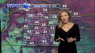 Sunshine returns for Sunday with highs in the 40s in Denver