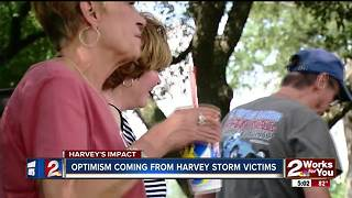 Harvey storm victims optimistic
