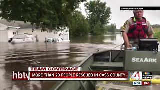 Firefighters perform water rescues in Cass County after flash floods - Video