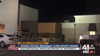 Applebee's closes after alleged racial profiling