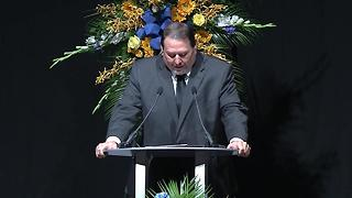 Pastor Mark Petty delivers eulogy at funeral for IMPD Deputy Chief  James Waters - Video