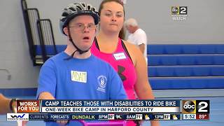 Harford County offers camp to teach kids with special needs how to ride a bike - Video