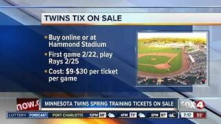 Twins spring training tickets on sale - Video