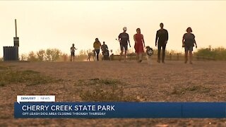 Off-leash dog area at Cherry Creek State Park closing for 4 days