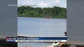 VIDEO: Plane crashes into lake in Lapeer County