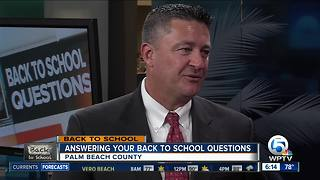 Palm Beach County school superintendent Dr. Robert Avossa speaks about 1st day of school
