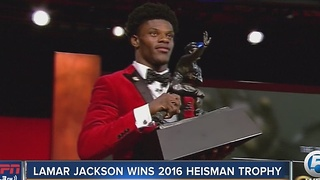 Louisville QB, former Boynton Beach star Lamar Jackson wins Heisman Trophy - Video