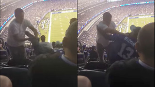 Giants Fan PUKES on Another, FIGHT Erupts - Video