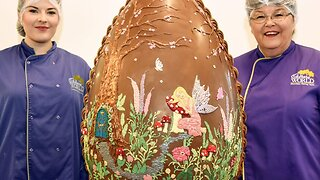 Cracking Job! Meet The Unsung Heroes Of Easter Who Spent Two Days Making Six Stone Easter Egg