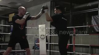 George Groves shows off pad work ahead of WBSS bow