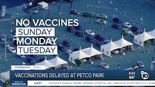Vaccinations delayed at Petco Park super station