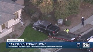 6-year-old child took truck keys overnight, crashed into Glendale home