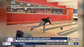 Strikes for Scholarships helps local culinary and hospital students - Video