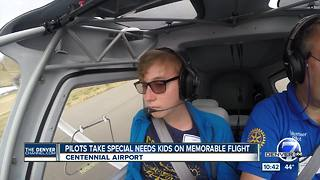 Special needs kids co-pilot flights around Centennial for Challenge Air - Video