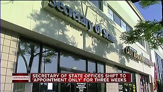 Michigan Secretary of State limiting branch operations to critical services over 3-week period