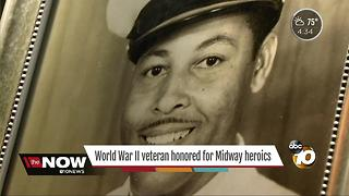 World War II veteran honored for Midway heroics - Video